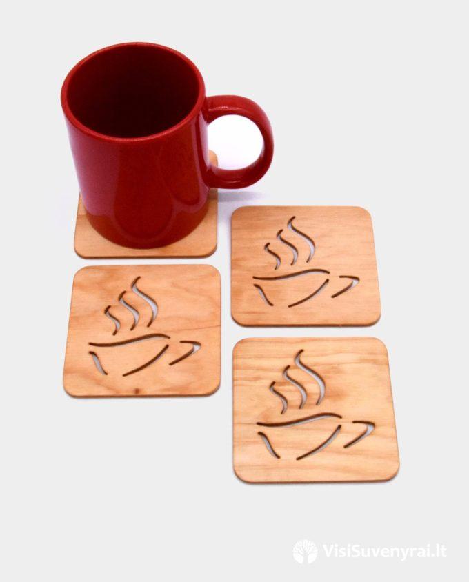 padėkliukai puodeliams interjero dovana arbatos mėgėjui