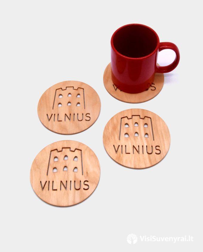 padėkliukai puodeliams suvenyrai Vilnius dovanos užsieniečiams