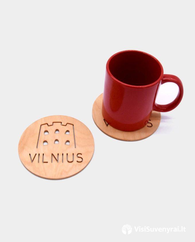 suvenyrinis padėkliukas puodukui bokalui suvenyrai Vilnius
