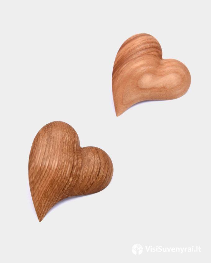 medinė segė širdelė juvelyrika papuošalai iš medžio