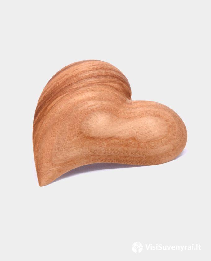 papuošalas segė iš medžio širdis dovana meilė