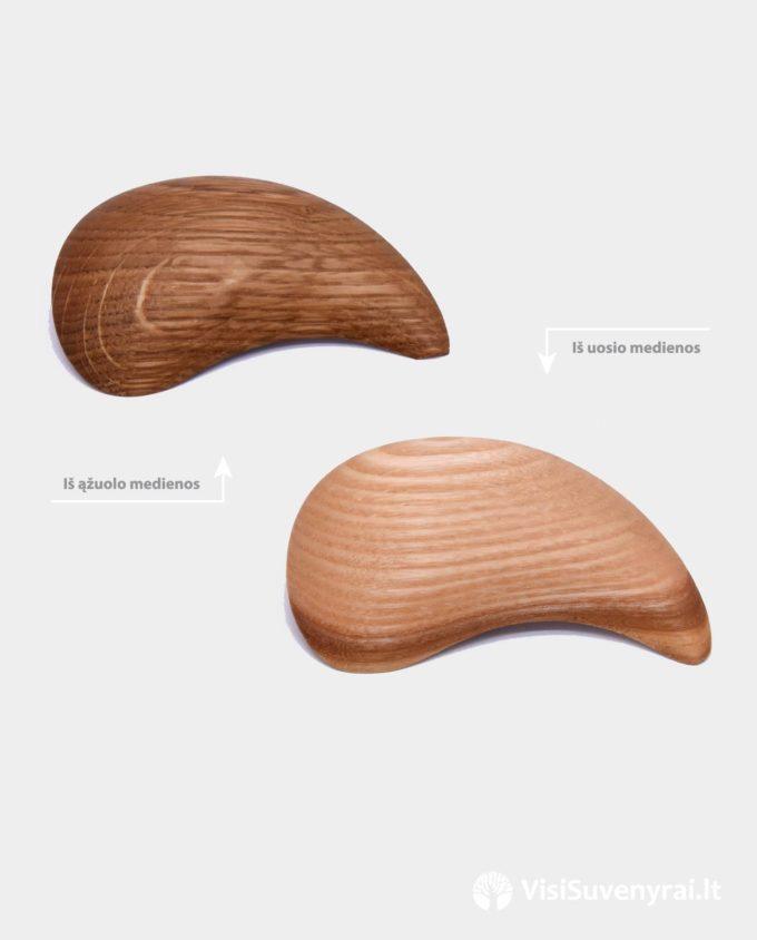 mediniai papuošalai dovanai sagės juvelyriniai dirbiniai iš medienos