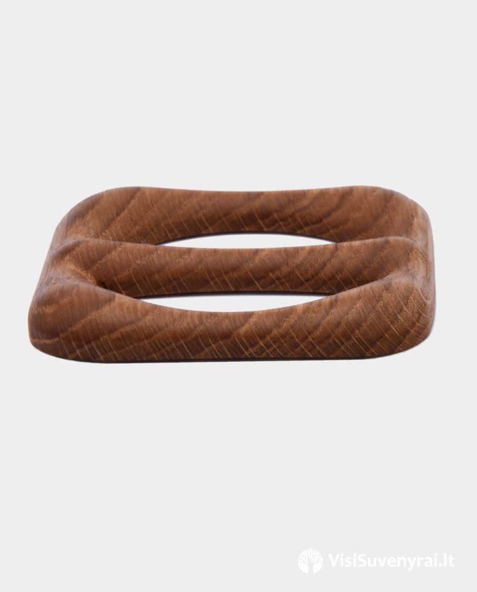 ąžuolinė segė medinė sagtelė šalikui žiedas skarai