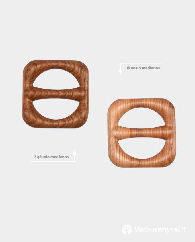 medinės sagės skarelėms sagtelės šalikėliams mediniai papuošalai lino drabužiams