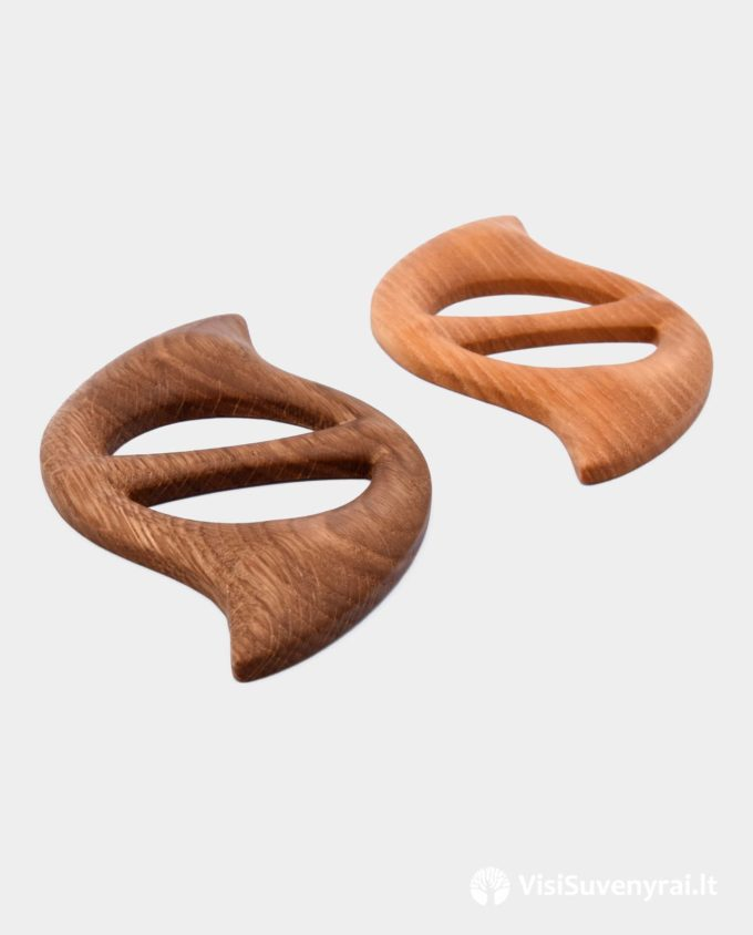 Šaliko sagtelės mediniai papuošalai žiedai skaroms