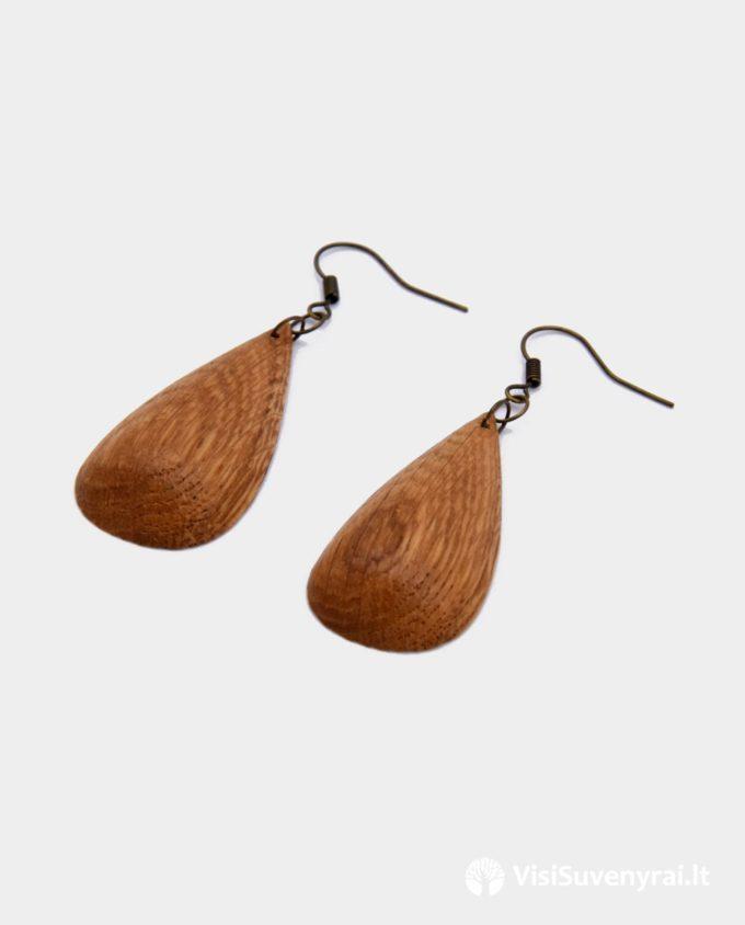 dovanos moterims auskarai iš medžio juvelyrika mediniai auskariukai dovana
