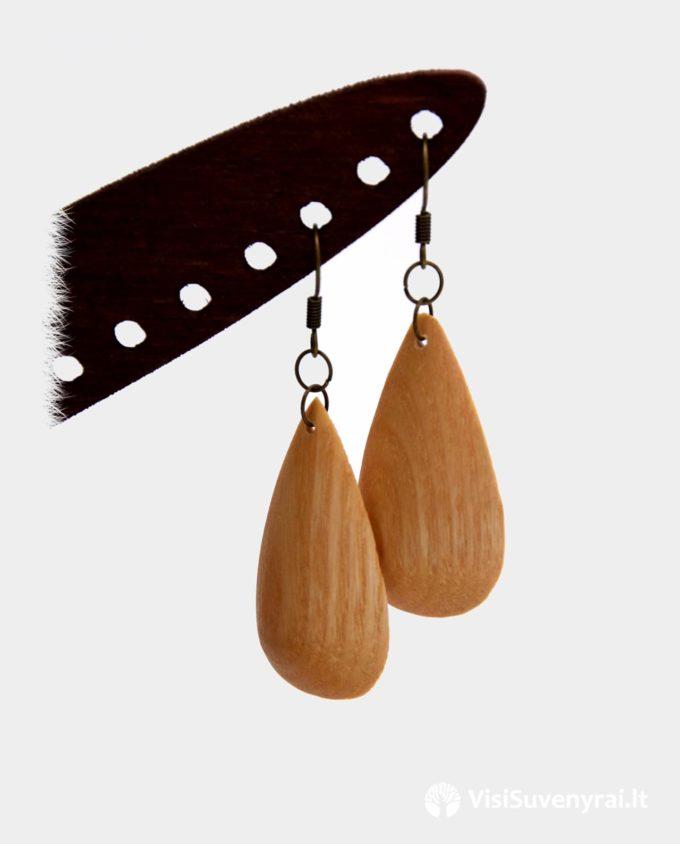 dovanos papuošalai mediniai auskarai rankų darbas dovana moterims