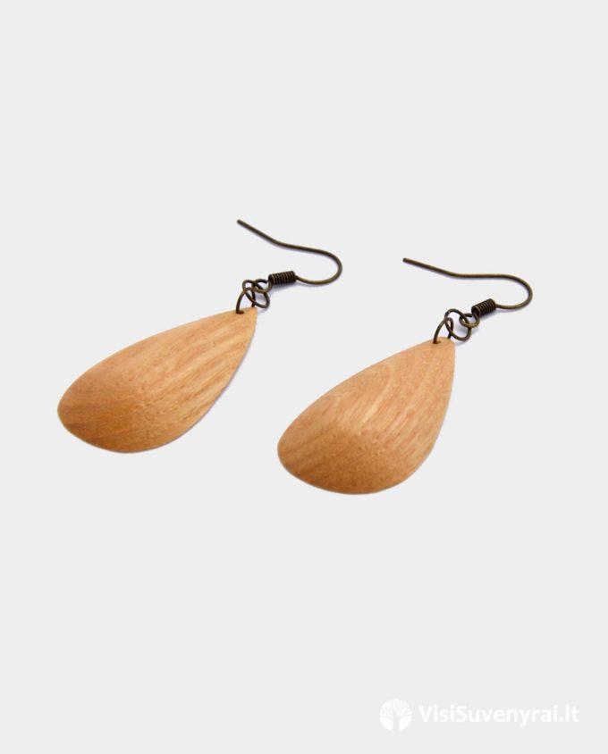 juvelyrika iš medžio papuošalai mediniai auskarai rankų darbo dovana moterei