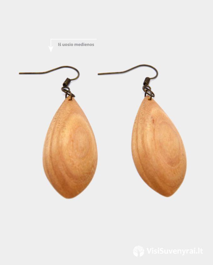 mediniai auskarai internetu papuošalai iš medienos medinės dovanos internete