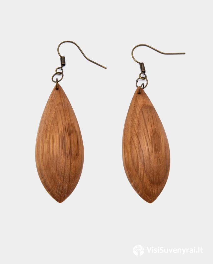 mediniai auskarai internetu papuošalai juvelyrika iš medžio dovana