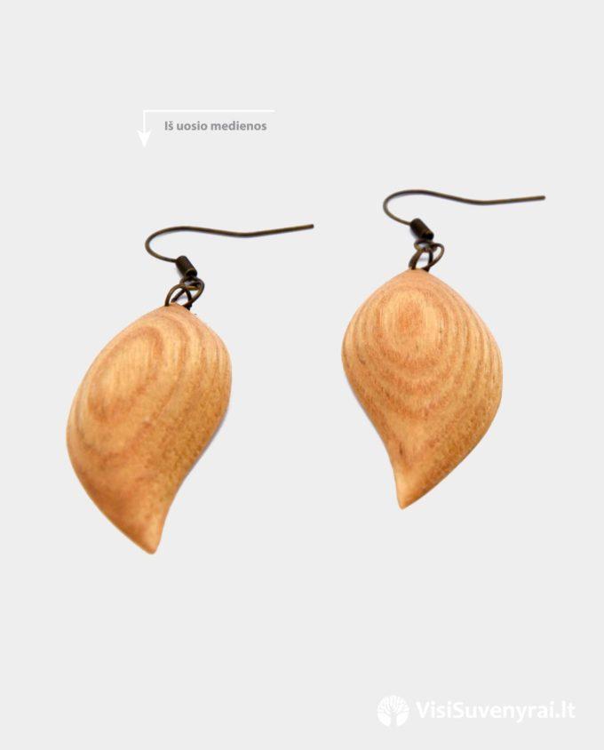 mediniai auskarai internetu rankų darbas auskarai iš medžio papuošalai moterims auskariukai