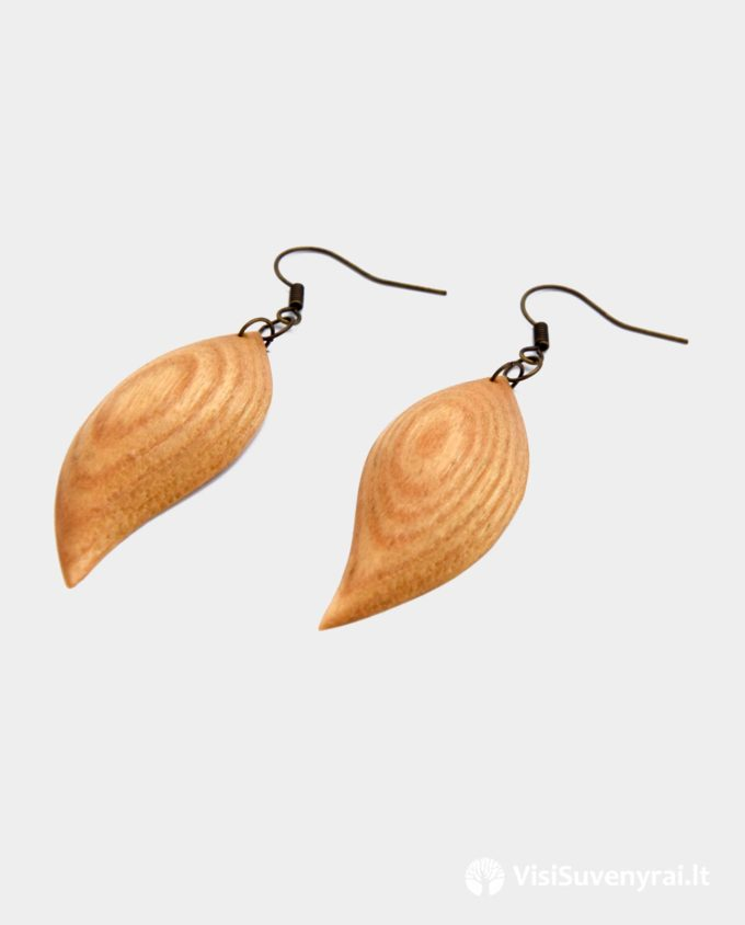 mediniai auskarai internetu rankų darbo auskarai iš medžio auskarėliai auskariukai