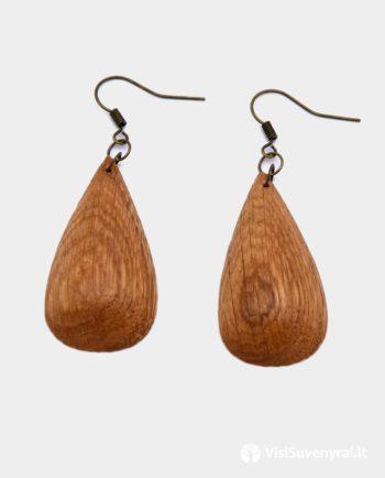 mediniai auskarai papuošalai juvelyrika iš medžio