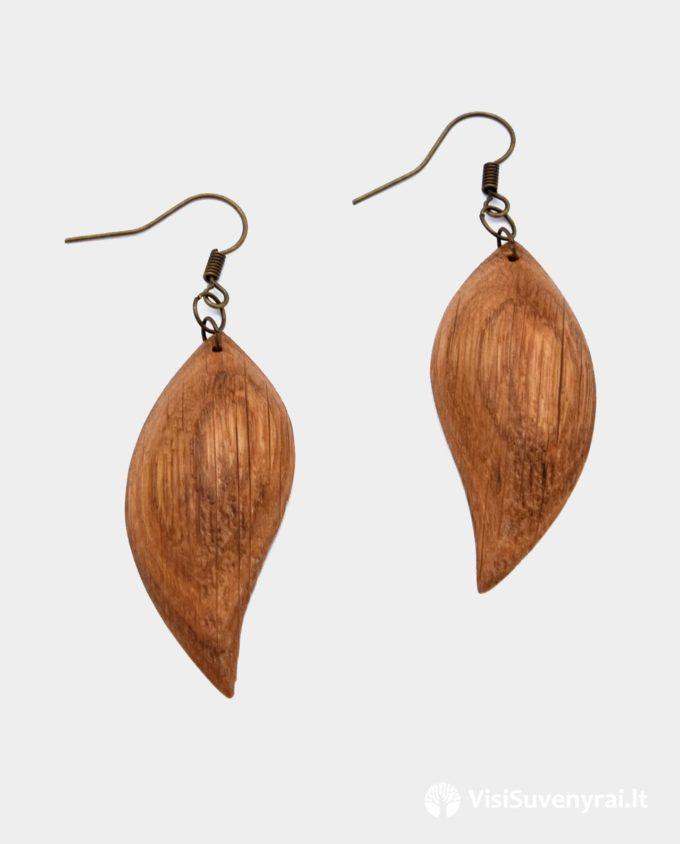 mediniai auskarai rankų darbo auskarai iš medžio papuošalai drožti auskariukai