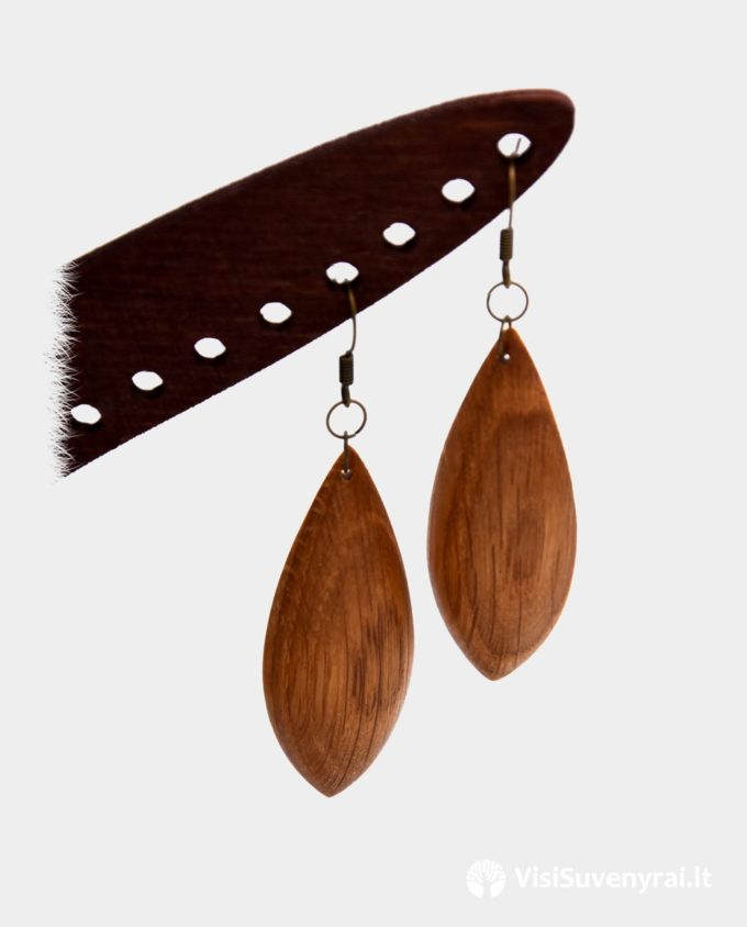 mediniai papuošalai internetu ąžuoliniai auskarai internete rankų darbas juvelyrika iš medžio dovanos moterims