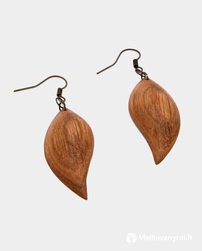 rankų darbo mediniai auskarai internetu ąžuoliniai auskarai papuošalai internetu auskarai auskarėliai auskariukai
