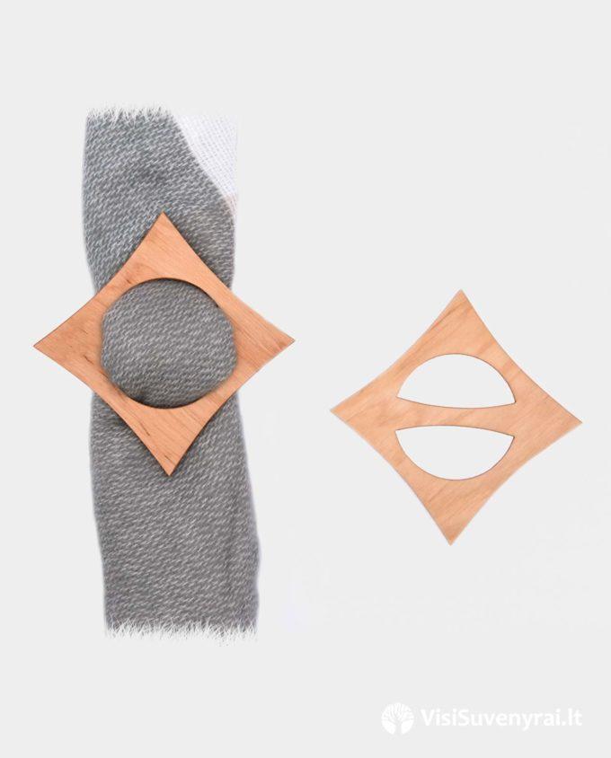 rankų darbo papuošalai internetu medinės sagės žiedas šalikui papuošalas moterims sagtelė