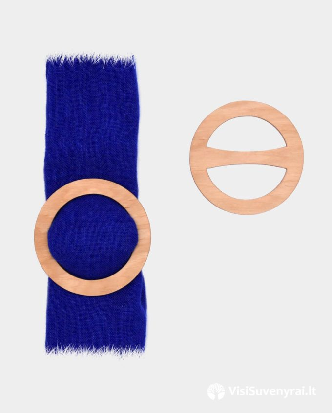 rankų darbo papuošalai mediniai žiedai šalikui skarelei