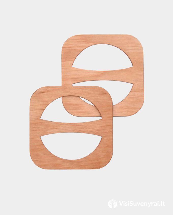 šaliko žiedai mediniai papuošlai sagtelės papuošalas prie lino žiedas iš medžio rankų darbas