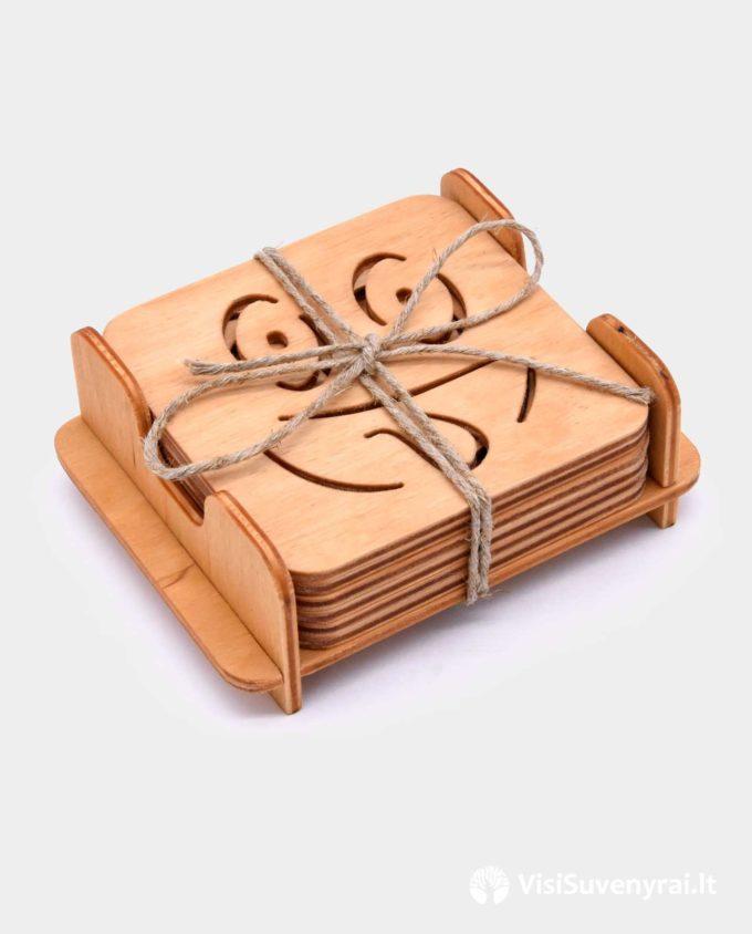 padėkliukai mediniai prikolai juokingi suvenyrai dovanos iš medžio medinių padėkliukų komplektas