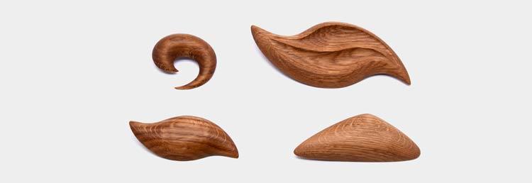 Ažuolinės medinės segės pagamintos iš seno ąžuolo medienos – visi suvenyrai