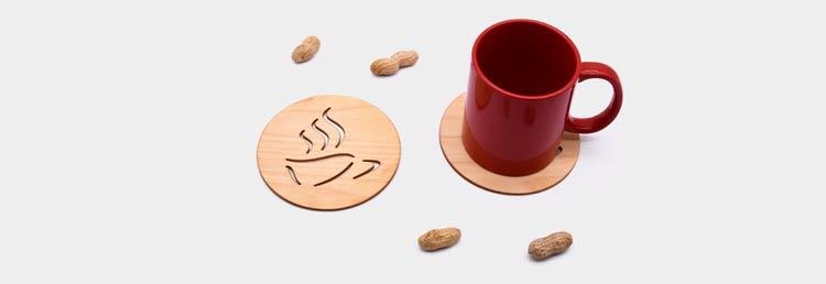 Mediniai padėkliukai puodeliams – visi suvenyrai