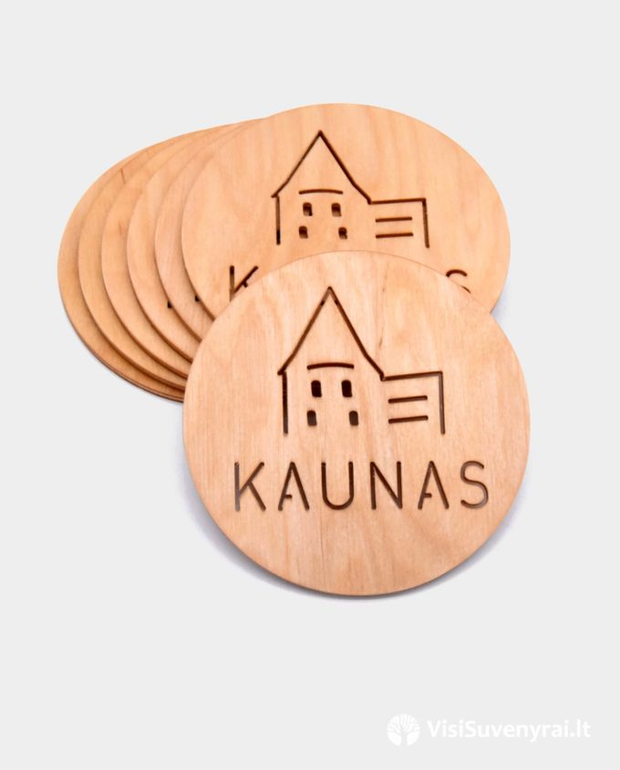 Padekliukas puodeliui suvenyras Kaunas