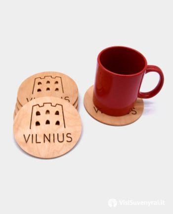 Padekliukas puodeliui suvenyras Vilnius